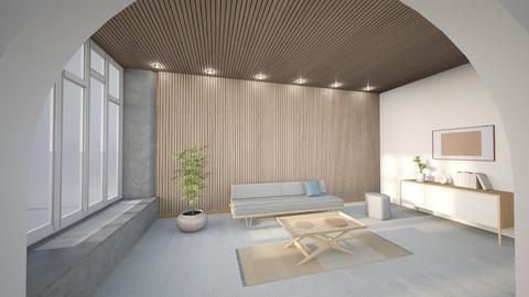 Minimalist Wood Living - Minimal - Living room  - by luna smith
