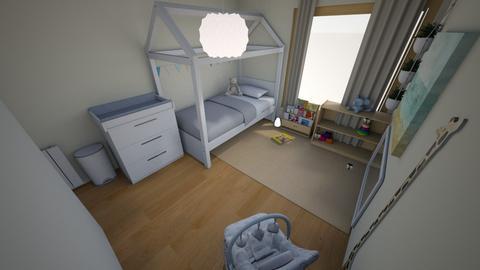 Gucio Room 2 - Minimal - Kids room  - by meginflow