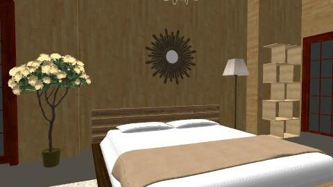 Badroom rustic - Rustic - Bedroom  - by brunadse