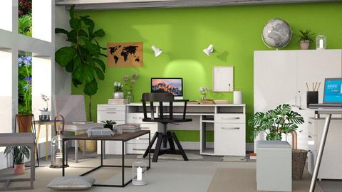 Green Office - Modern - Office - by millerfam