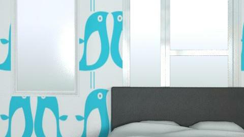 Blue Room - Retro - Bedroom  - by AliceJayeSykes