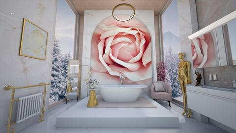 Pink luxe bathroom - Bathroom  - by hmm22