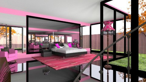Very Pink Bedroom - Eclectic - Bedroom  - by Wozniazailia