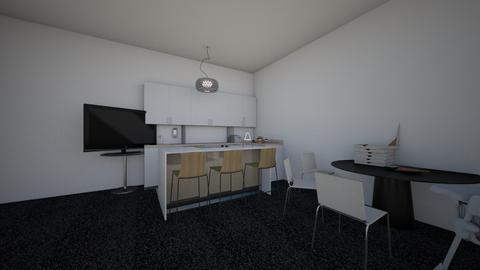 black and white kitchen - Kitchen  - by Hali Lieser