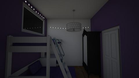 paars en wit voor meisje  - Kids room  - by Mirthe van Rooijen
