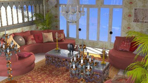 Indian fantasy - Glamour - Living room  - by catcarla