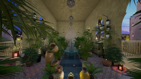 Moroccan Courtyard - Global - Garden  - by Irishrose58
