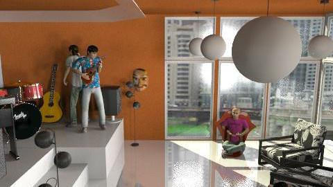 rock_a training hut - Office - by janetski2
