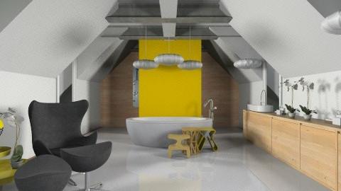 banheiro amarelo - Modern - Bathroom  - by Talles Paganotti