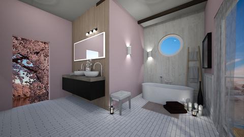 Cherry Blossom Bathroom - Bathroom  - by Magdaaa175