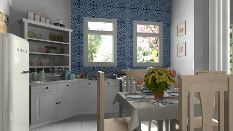 kitchen simple compose - Country - Kitchen  - by Maria_Julia