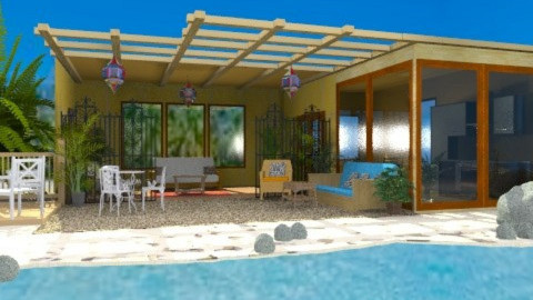 Beach Retreat - Rustic - Garden  - by Bibiche