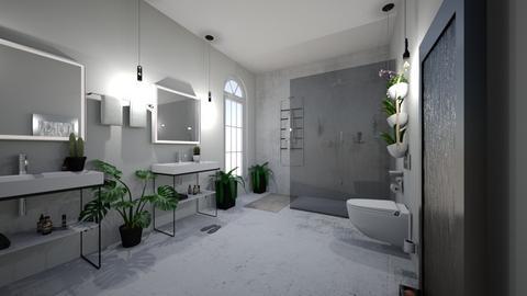 green bathroom - Bathroom  - by barbararrooyo