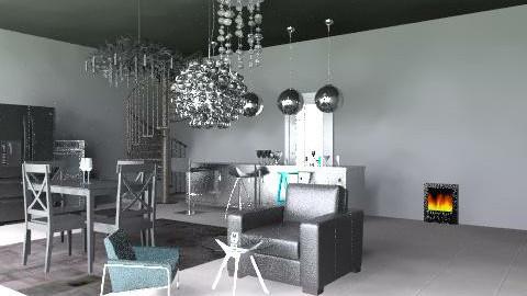 Black Kitchen - Glamour - Kitchen  - by Alyssa123