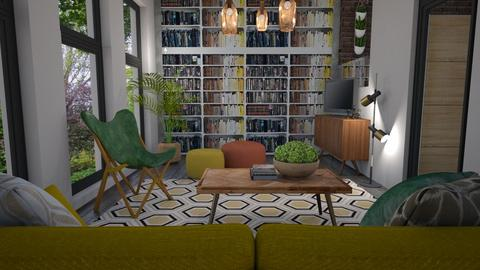 Bee house inspired - Living room  - by Tuija