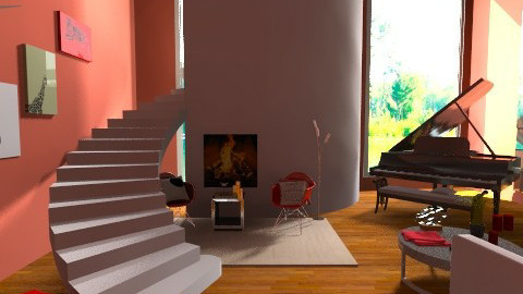 Artsy  - Eclectic - Living room  - by idesine