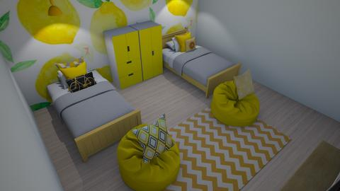 girls summer bedroom - Kids room  - by katemarsh
