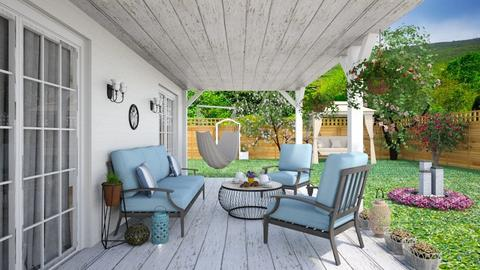 Summer Wooden Porch - Garden  - by Vicesz