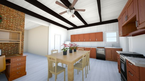 Kitchen 3 Paint Ceiling - Country - Kitchen  - by KitchenFirUs