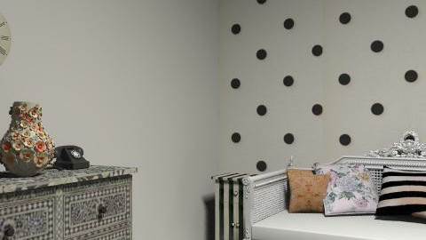 Spotty Florence sitting room - Glamour - Living room  - by flobelly