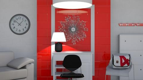 Bring it Red - Retro - Living room  - by Gurns