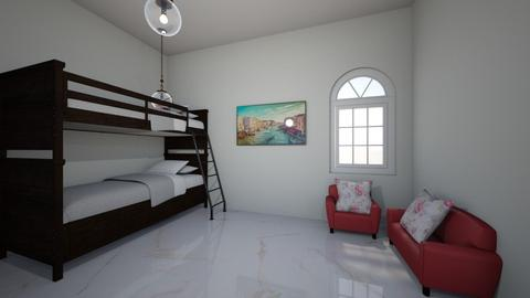 simple bed room  - Kids room  - by XenaChico