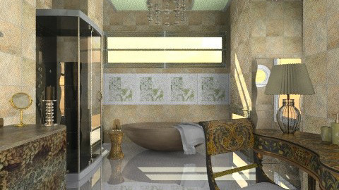 Marble and glamor - Glamour - Bathroom  - by milyca8