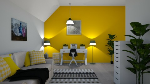 Simple Yellow Study - Modern - Office  - by millerfam