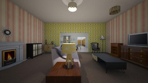Vintage Retro Flat - Living room  - by mspence03