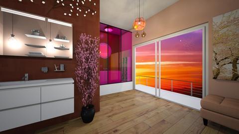 Cherry Blossom Bathroom - Bathroom  - by bluedolphin12