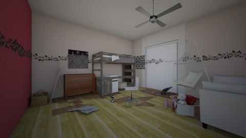 Scarlets room - Modern - Bedroom  - by kiwimelon711