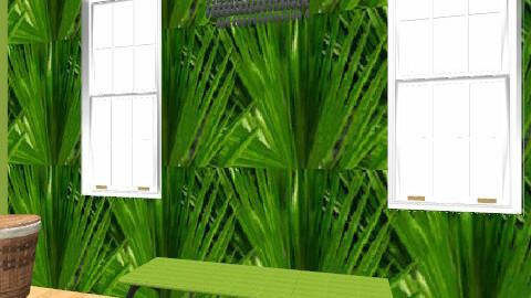 green leaf bathroom - Glamour - Bathroom  - by cubagcp
