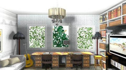 White TV room and office - Global - Office - by cleyenne