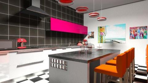 retro kitchen - Retro - Kitchen  - by hemelehem