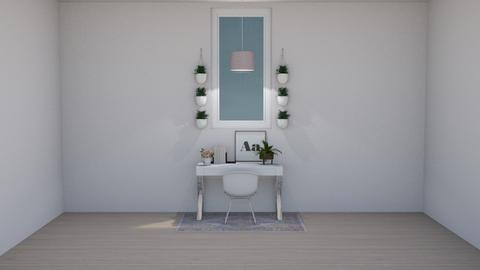 Minimal Bohemian Office - Minimal - Office  - by crystal_clear_skies
