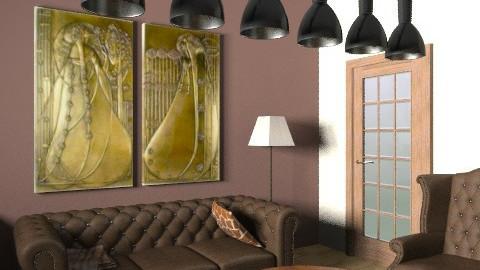 brown room6e - Living room - by cyberneko