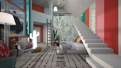 Cactus  - Bedroom - by jo0207