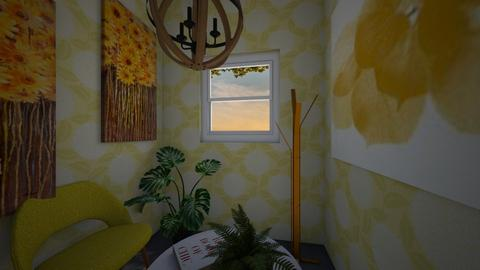 Tiny Yellow Room - Feminine - Living room - by Yui Soo