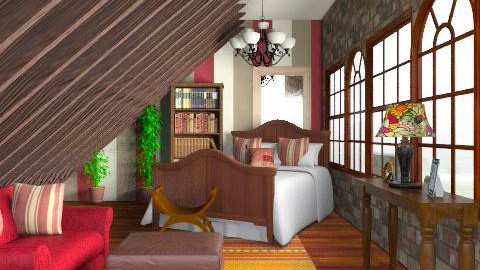 Bedroom - Rustic - Bedroom  - by laruue