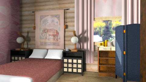 Corner of cabin bed - Rustic - Bedroom  - by mrschicken