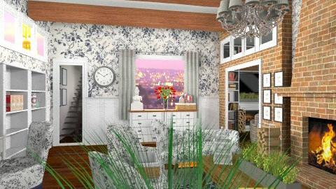 beautiful living room - Rustic - Living room  - by dezhero