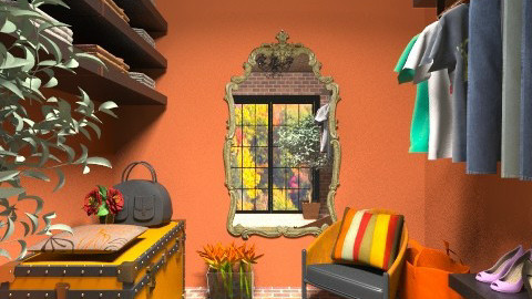 Orange walkin closet - by deleted_1520806422_Roxy