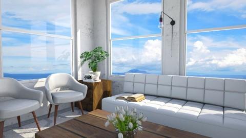 BandB Receiving Area - Rustic - Living room  - by Faye Dela Cruz