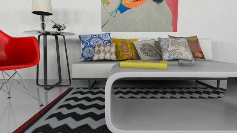 pop art design - Retro - Living room  - by mire roig