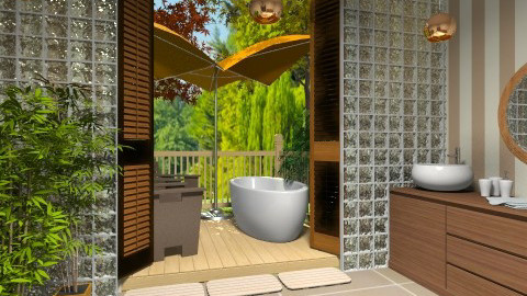 Outdoor Bath1 - Glamour - Bathroom  - by Bandara Beliketimulla