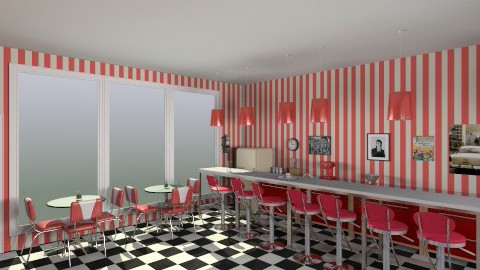 50s Diner - Retro - Kitchen  - by HGranger2