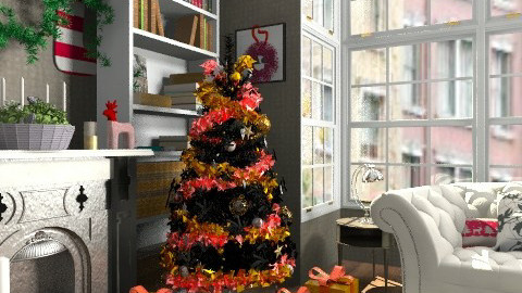Christmas library - Classic - Living room - by mydeco_Jo