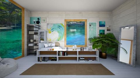 Tropical retreat - Modern - Bathroom - by Loopsyloo