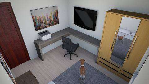 Headquarters B - Modern - Bedroom  - by abcurvelo