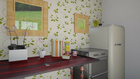 Floral Kitchen - Country - Kitchen  - by Cecily Reid
